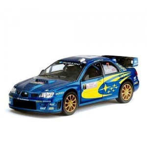 """KT Машинка жел. HU KINSMART KT 5328 W """"SUBARU IMPREZA WRC"""""""