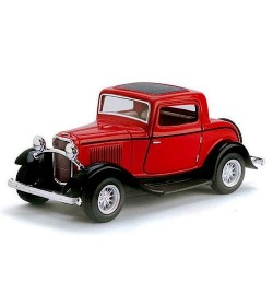 "KT Машинка жел. HU KINSMART KT 5332 W ""FORD 3-WINDOW COUPE"""