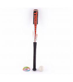 Бита M 2884 (72шт) бейсбольная, 59см, мячик 5см, 3цвета, в сетке, 64-5-5см