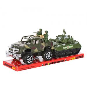 Джип 333 с танком и солдатиками, в слюде