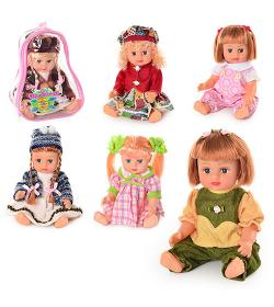 JT Кукла ОКСАНОЧКА 5066-5069-5075-5076 в рюкзаке