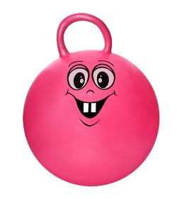 Мяч для фитнеса MS 1126 (25шт) с ручкой, 38 см, смайл