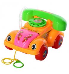 Каталка 081 A машинка-телефон, в кульке