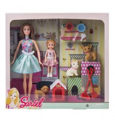 Кукла 7726-A2 домик для животных, в коробке
