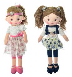 Кукла X 13089 мягконабивная, в кульке