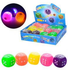 Мяч детский MS 1153-2 (1уп/12шт) кубик, свет, в дисплее
