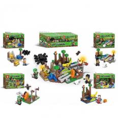 Конструктор SY 1027 Minecraft, строение, фигурки, в коробке