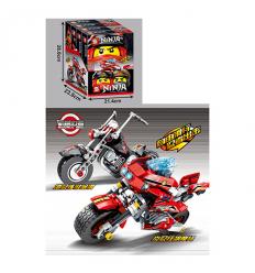 Конструктор SY 7009 NJ, мотоцикл, фигурка, в коробке