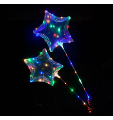 Шарики надувные MK 2075-1 BOBO, звезда, на батарейке