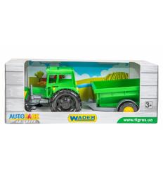 """Трактор 39348 (12шт) """"Тигрес"""", Фермер з причепом в коробці"""