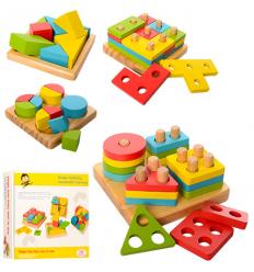 Деревянная игрушка MD 1191 Геометрика, в коробке