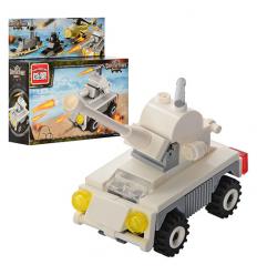 Конструктор BRICK 1221 военная машина, в коробке