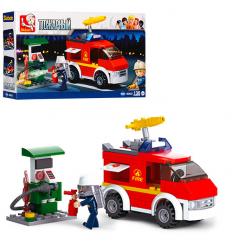 Конструктор SLUBAN M 38 B 0623 Пожарная машина, в коробке