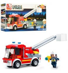Конструктор SLUBAN M 38 B 0632 Пожарная машина, в коробке