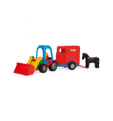 Трактор-багги 39229 с ковшем, с прицепом