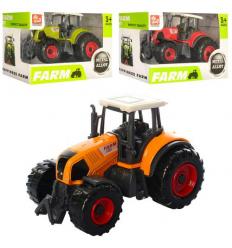 Трактор SQ90222-1 (144шт) металл, 9,5см, 3 цвета, в коробке