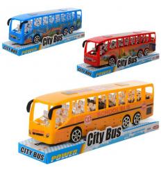 Автобус TQ 123-41 А-43A инерционный, в слюде