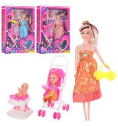 Кукла 1807-01 беременная с дочкоц, в коробке