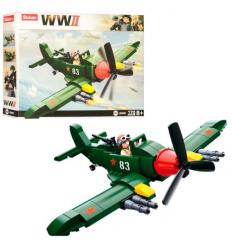 Конструктор SLUBAN M 38 B 0683 Военный самолет, в коробке