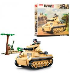 Конструктор SLUBAN M 38 B 0691 Военный танк, в коробке