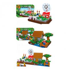 Конструктор ZB 9936 Minecraft, строение, фигурки, в коробке