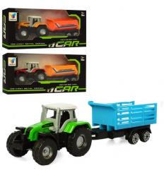Трактор H 101 металл, с прицепом, в коробке