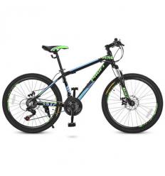 Велосипед 24 Д. G24YOUNG A24.3 (1шт/ящ) PROFI, Черно-салатовый-голубой