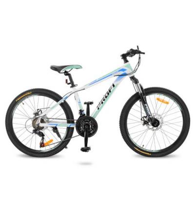 Велосипед 24 д. G24PRECISE A24.2 (1шт/ящ) PROF1, Бело-голубой