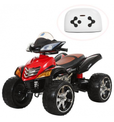 Квадроцикл M 3101 (MP3) EBLR-2 (1шт/ящ) BAMBI, Красно-черный