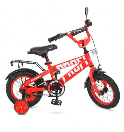 Велосипед детский PROF1 12д. T 12171 (1 шт/ящ) Flash, красный