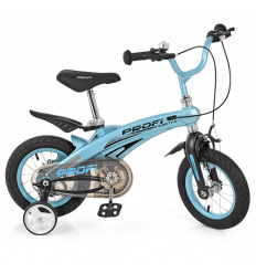 Велосипед детский PROF1 12д. LMG 12121 (1 шт/ящ) Projective, голубой