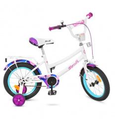 Велосипед детский PROF1 14 д. Y 14163 (1 шт/ящ) Geometry, белый, звонок