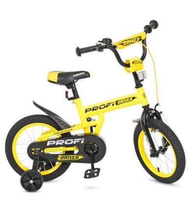 Велосипед детский PROF1 14д. L 14111 (1 шт/ящ) Driver, желтый