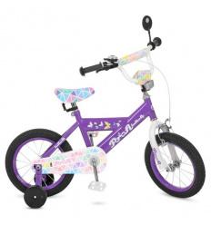 Велосипед детский PROF1 14д. L 14132 (1 шт/ящ) Butterfly 2, сиреневый