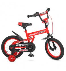 Велосипед детский PROF1 14д. L 14112 (1 шт/ящ) Driver, красый, дополнителльные колеса