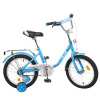 Велосипед детский PROF1 16д. L 1684 (1 шт/ящ) Flower, голубой
