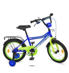 Велосипед детский PROF1 16д. Y 16103 (1 шт/ящ) Top Grade, синий