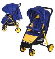 Коляска детская M 3435-4 PREGO (1 шт/ящ) EL CAMINO, прогулочная, сине-желтая