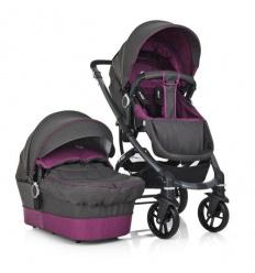 Коляска детская ME 1021-9 B-move (1 шт/ящ) универсал 2 в 1, серо-фиолетовый