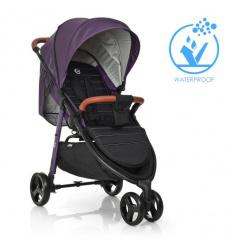 Коляска детская ME 1025 X3 Plum (1 шт/ящ) EL CAMINO, прогулочная, фиолетовая