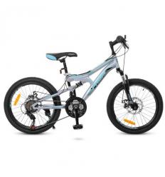 Велосипед 20 д. G20DAMPER S20.5 (1шт/ящ) PROF1, Черно-серый-бирюза