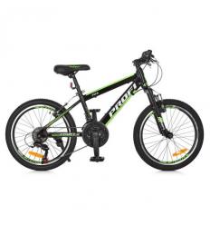 Велосипед 20 д. G20FIFA A20.2 (1шт/ящ) PROF1, Черно-зеленый