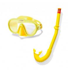 Набор для плавания 55642 (6 шт) INTEX, трубка, маска, регулируемый ремешок, от 8 лет