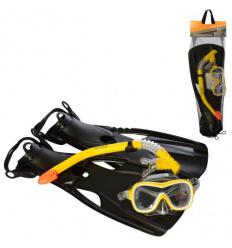 Набор для плавания 55658 (6 шт) INTEX, ласты-размер M (24-26 см), трубка, маска