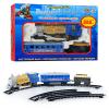 ЖД 70144 (611) (24шт) голубой вагон, муз(рус), свет, дым, длина путей 282см в короб 38-26-7см