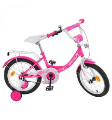 Велосипед детский PROF1 16д. Y1613 (1 шт/ящ) Princess, Малиновый