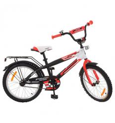 Велосипед детский PROF1 20д. G2055 (1шт/ящ) Inspirer, черно-белый-красный