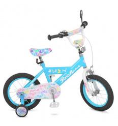Велосипед детский PROF1 16д. L 16133 (1 шт/ящ) Butterfly 2, голубой