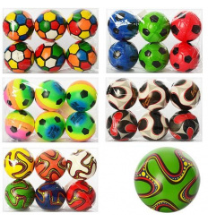 Мяч детский фомовый MS 0261 (20уп) 4 дюйма, 5 видов, 6шт в кульке