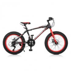 Велосипед 20 Д. EB 20 POWER 1.0 S 20.1 (1шт/ящ) PROFI, Черно-красный